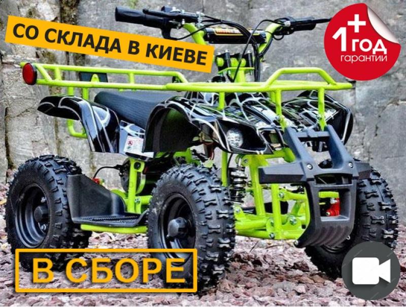 Электроквадроцикл Viper-Crosser EATV 90505 зеленый в сборе